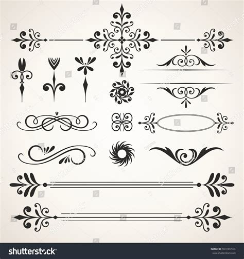 vector wedding design elements and calligraphic page decoration calligraphic design elements elements page decoration