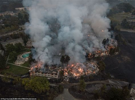 California Fires Drive From Homes To Hotels by 11 Killed And Sky Turns Orange From California Wildfires