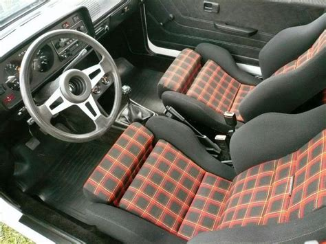 Gti Plaid Interior by Golf Mk1 Interior With Interlagos Plaid And Optional Sport