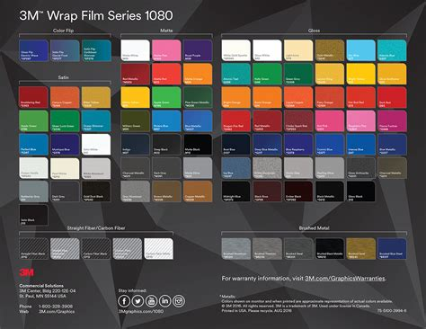 3m 1080 colors 3m vinyl colour chart