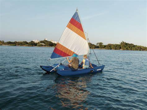 catamaran without sails 14 inflatable sail catamaran portable sail boat in a bag
