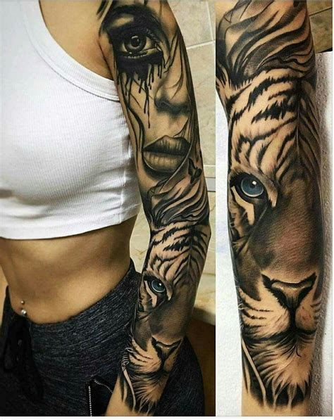 small tattoo sleeve tiger sleeve animal tattoo sleeve тату