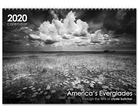 calendar americas everglades clyde butcher black white fine art photography