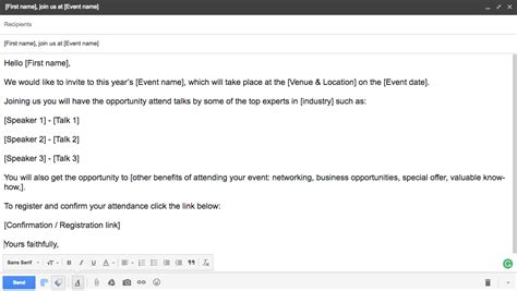 Email Templates For Event Planners Part 1 Email Invitations Meeting Application Blog Event Planning Email Template