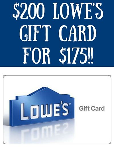 best lowes gift card for sale noahsgiftcard - Lowes Gift Card Sale
