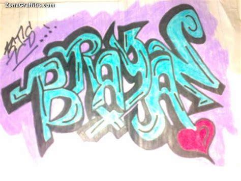 imagenes que digan brayan bryan en letra graffiti imagui