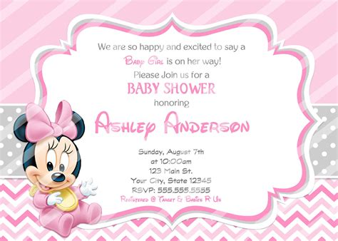 Minnie Mouse Baby Shower by Baby Minnie Mouse Baby Shower Invitations And Similar Items