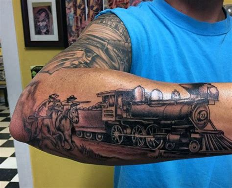 locomotive tattoo 70 tattoos for masculine railroad designs