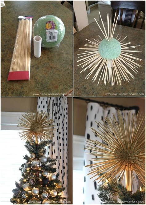festive diy christmas tree toppers  dress  tree  holiday cheer diy crafts