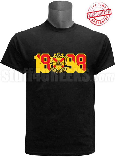 phi mu alpha t shirt with crest and founding year black