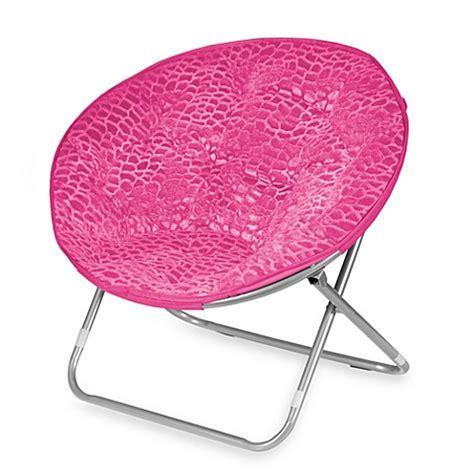 plush saucer chair saucer chair plush pink bed bath beyond