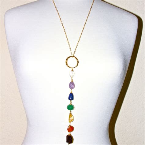 Dangle Necklace chakra dangle necklace honoring the sacred