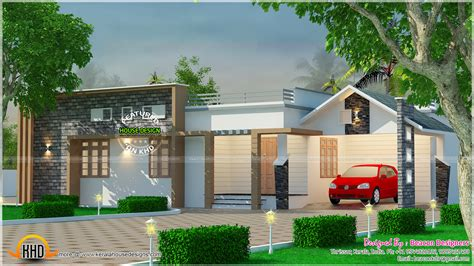 kerala home design thrissur modern mix roof single floor home kerala home design and