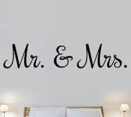 Seashell Wall Stickers mr mrs love marriage bedroom quote wall art stickers