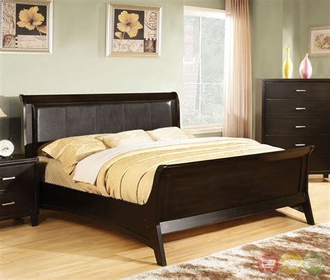 espresso bedroom sets darien contemporary espresso sleigh bedroom set with