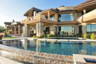Luxury Home Plans With Pools Luxury House With Pool Glass Windows Luxury Mansion Home