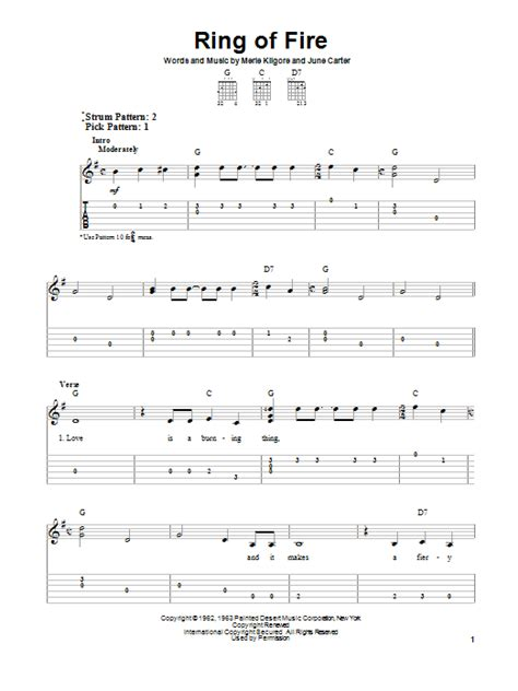 ukulele tutorial ring of fire ring of fire sheet music direct
