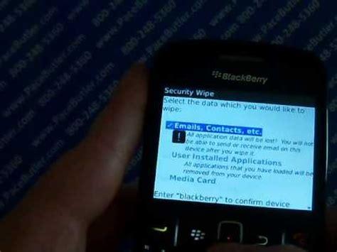 master reset blackberry gemini 8520 blackberry 8520 master reset cell phone data erase youtube