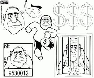 imagenes de justicia para niños para colorear scene di vita di un ladro da colorare e stare