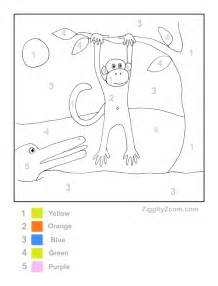 Paint colors shown in rooms this is a color by numbers worksheets