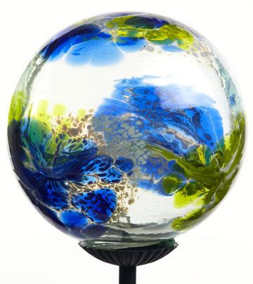 blown glass solar lights blue webbed hand blown glass garden solar light