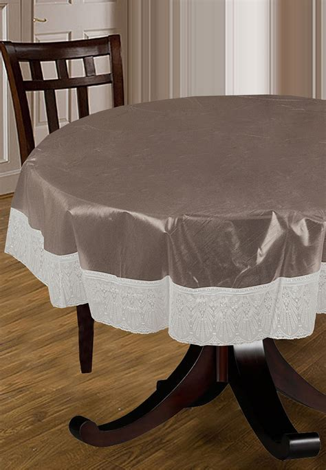 multi color tablecloth printed pvc table