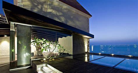 john abraham s sea facing house in mumbai sea facing penthouse by abraham john architects