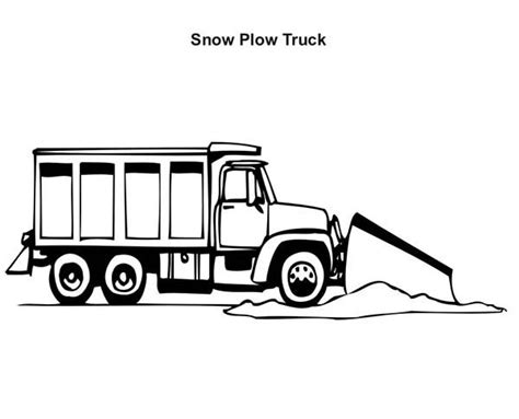 monster truck coloring pages snow plow truck coloring