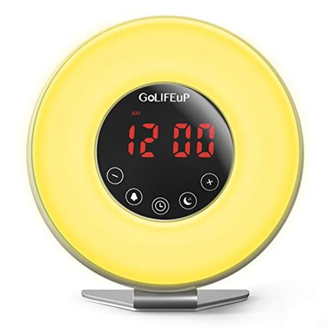 happy light alarm clock perfect for gift for heavy sleepers wake up light alarm