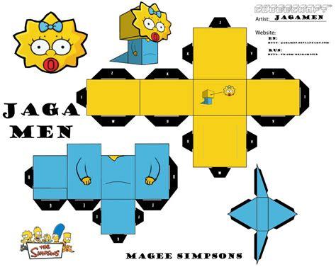 Simpsons Papercraft - magee simpsons cubeecraft by jagamen on deviantart