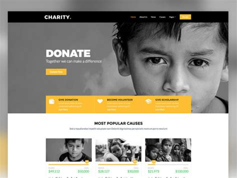 50 Free Responsive Html Templates For Business Site Uicookies Donation Website Template