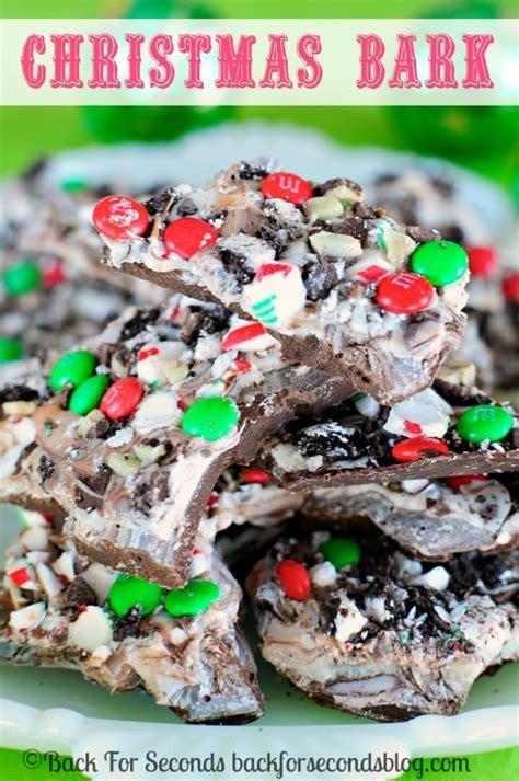 easy christmas bark recipe back for seconds
