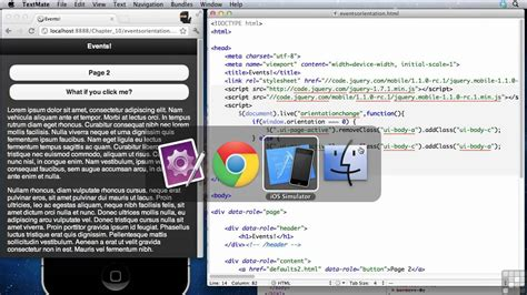 jquery mobile tutorial jquery mobile tutorial orientation and scroll events