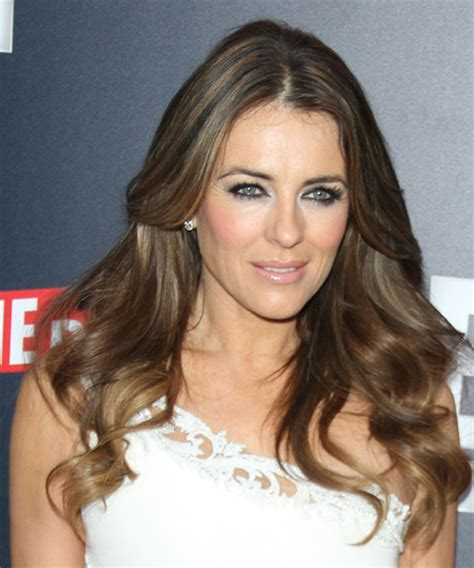 Elizabeth Hurley Long Wavy Casual Hairstyle   Medium