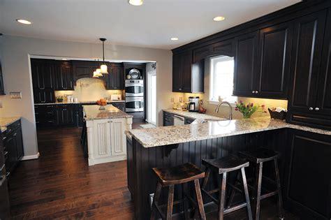 kitchens with dark wood cabinets download dark brown wood floor kitchen gen4congress com