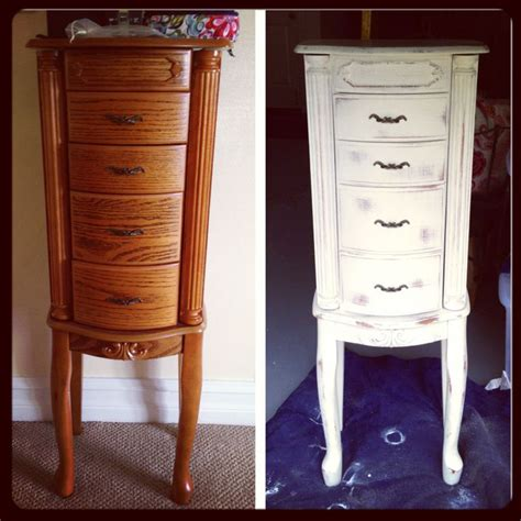 chalk paint jewelry armoire chalk paint transformation wooden jewelry box painted