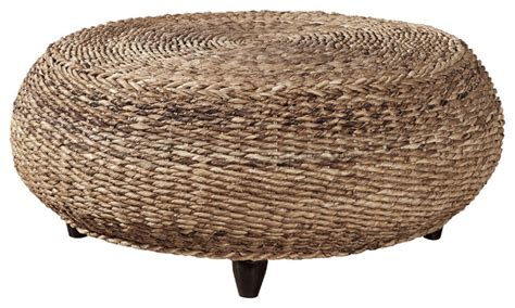 seagrass ottoman cape woven seagrass cocktail ottoman outdoor footstools
