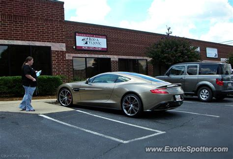 Aston Martin Carolina by Aston Martin Vanquish Spotted In Hickory Carolina