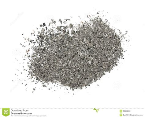 pile cigarette ash isolated  white stock image image