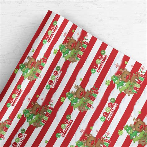 personalised custom christmas wrapping paper gift wrap