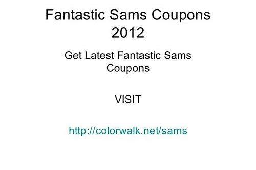 fantastic sams coupons bountiful utah