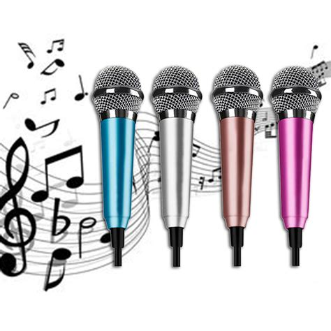 Microphone Mini Earphone 2in1 Karaoke Headset Sing luxury top quality 3 5mm portable wired clip on mini lapel headset microphone for mobile