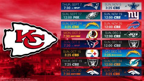 Search Kansas City Kansas City Chiefs Schedule Wallpaper Hd Image