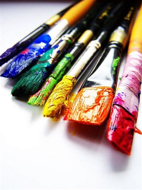 Painting Supplies by Rainbow Paint Brushes Visuals Rainbow