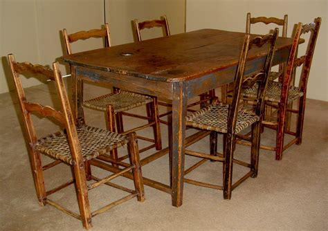 Primitive Kitchen Table by Primitive Kitchen Set Canadian Pine Wood Furniture For
