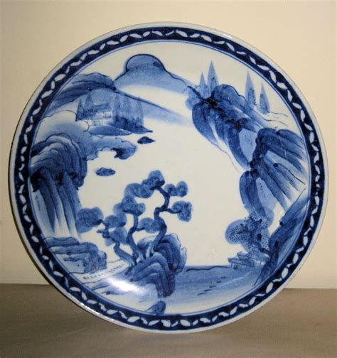 Blue White Porcelain L by Japanese Porcelain Blue White Plate From