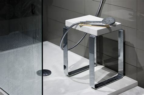 Cube Shower Bench Modern Shower Benches Seats Montreal By Wetstyle