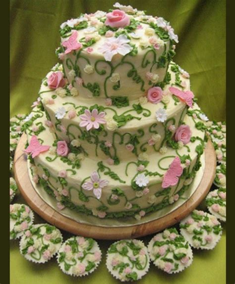 Flower Garden Cake 41 Sweet Wedding Cake Ideas