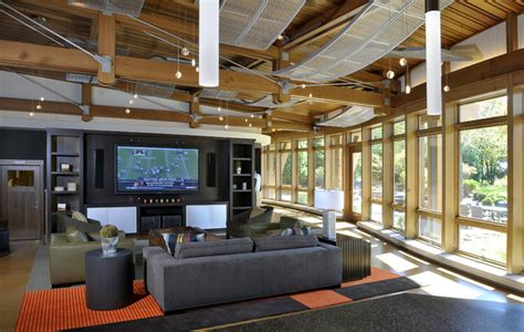 build in your entertainment area 106 living room family recreation barn entertainment area contemporary