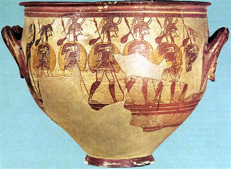 Mycenaean Warrior Vase by Archaeology Mycenaean Pottery